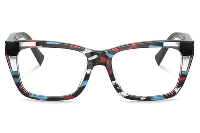Alain Mikli - Baie (A03111) Eyeglasses Red Teal/Crystal/Black