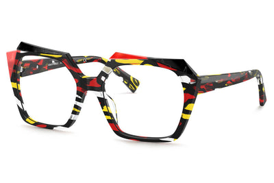 Alain Mikli - Bastina (A03121) Eyeglasses Red Yellow Stained Glass