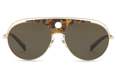 Alain Mikli - A04010 Sunglasses Brown Yellow/Gold