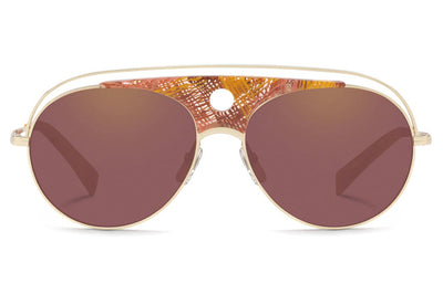 Alain Mikli - A04010 Sunglasses Chevron Brown/Gold
