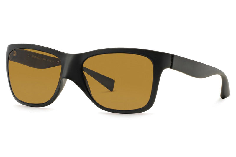 Alain Mikli - A05018 Sunglasses Matte Black with Dark Brown Lenses