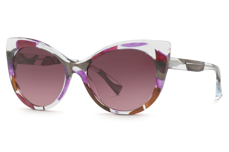 Alain Mikli - A05032 Sunglasses Grey Waves Violet Brown