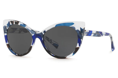 Alain Mikli - A05032 Sunglasses Crystal Waves Blue Black