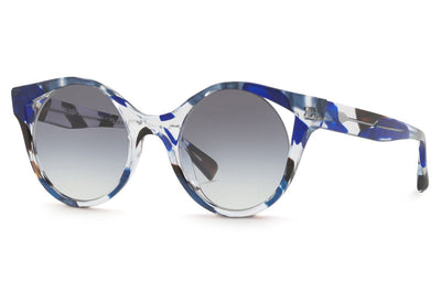 Alain Mikli - Rayce (A05033) Sunglasses Crystal Waves Blue Black