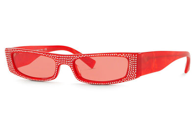 Alain Mikli - Edwidge Jeweled (A05039B) Sunglasses Mikli Red/Crystals
