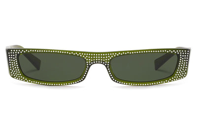Alain Mikli - Edwidge Jeweled (A05039B) Sunglasses Translucent Green/Crystals
