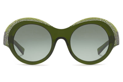Alain Mikli - Roselyne (A05040B) Sunglasses Translucent Green/Crystals