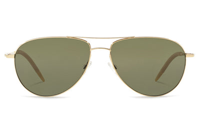Oliver Peoples - Benedict (OV1002S) Sunglasses Gold with Green Polar Lenses