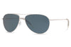 Oliver Peoples - Benedict (OV1002S) Sunglasses Silver with Blue Polar Lenses