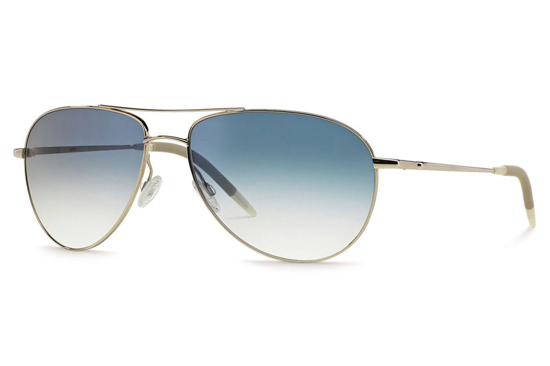 Oliver Peoples - Benedict (OV1002S) Sunglasses Silver with Gradient Blue Lenses