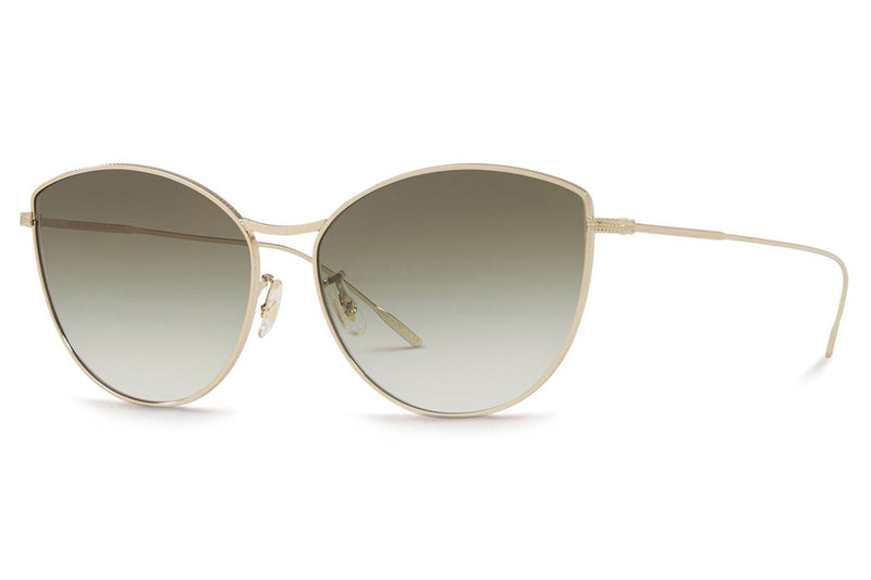 Oliver Peoples - Rayette (OV1232S) Sunglasses Gold with Gradient Green Lenses