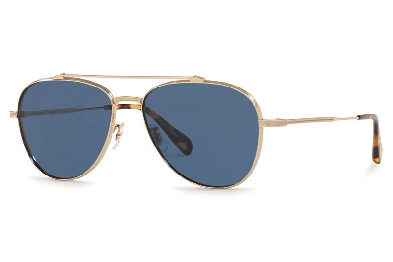 Oliver Peoples - Rikson (OV1266ST) Sunglasses Soft Gold with Blue Lenses