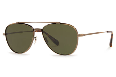 Oliver Peoples - Rikson (OV1266ST) Sunglasses Antique Pewter with G-15 Polarized Lenses
