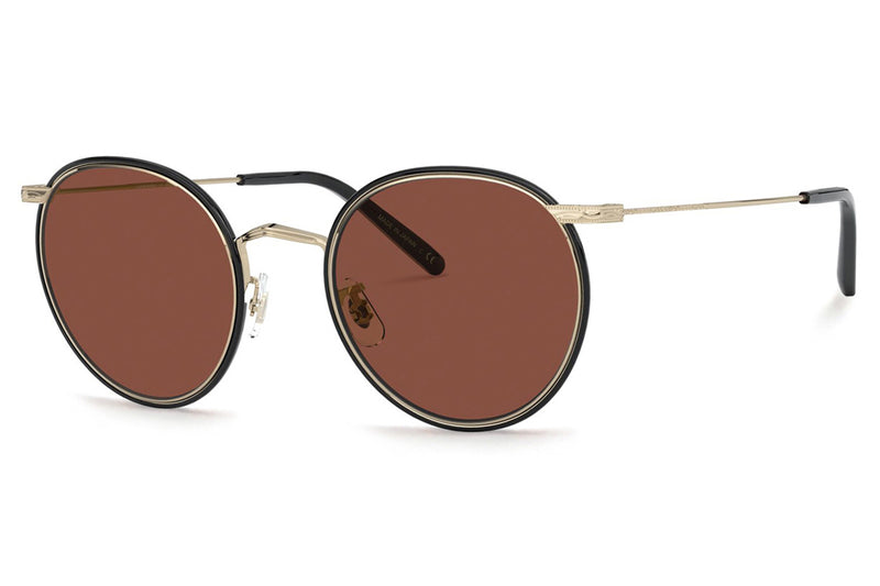 Oliver Peoples - Casson (OV1269ST) Sunglasses Soft Gold-Black with Rosewood Lenses
