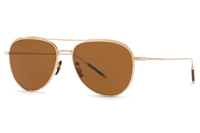 Oliver Peoples - Takumi 3 - TK3 (OV1276ST) Sunglasses Brushed Gold with True Brown Lenses