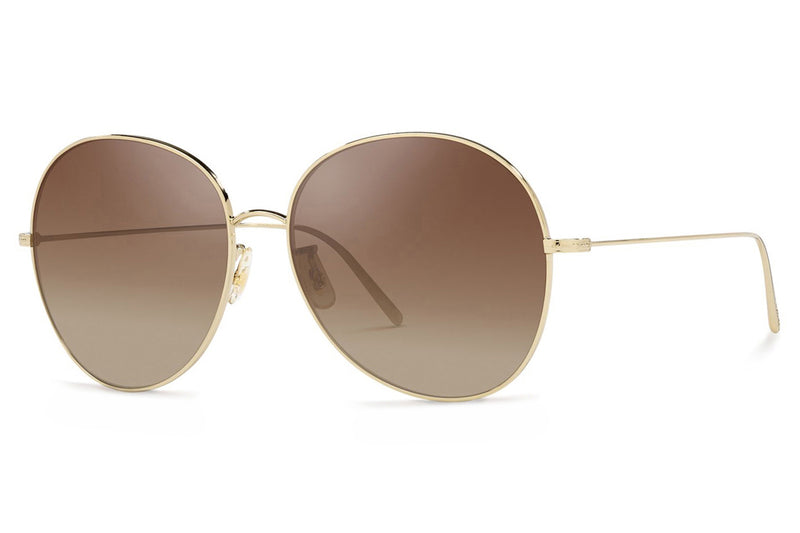 Oliver Peoples - Ysela (OV1289S) Sunglasses Soft Gold - Dark Brown Gradient Mirror