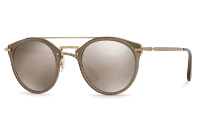 Oliver Peoples - Remick (OV5349S) Sunglasses Taupe-Brushed Gold with Light Brown Mirror Gold Lenses