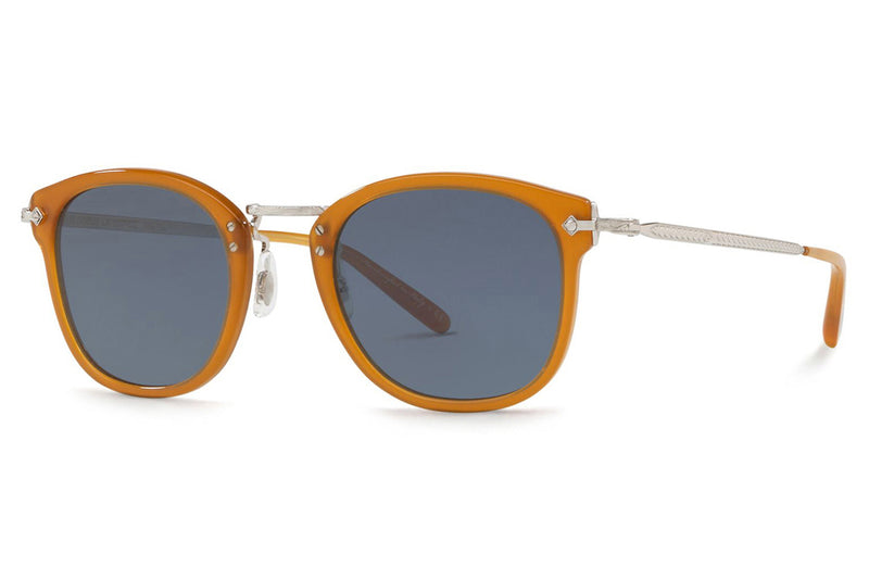 Oliver Peoples - OP-506 (OV5350S) Sunglasses Amber-Silver with Blue Lenses