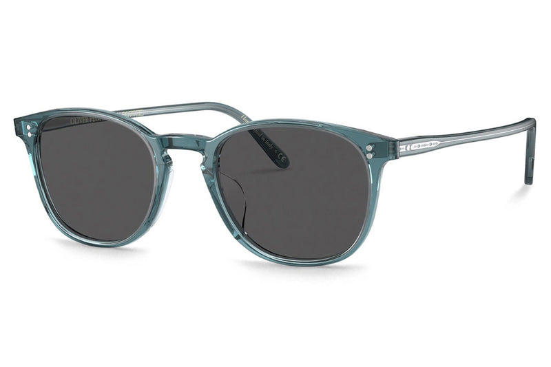 Oliver Peoples - Finley Vintage (OV5397SU) Sunglasses Washed Teal with Carbon Grey Lenses