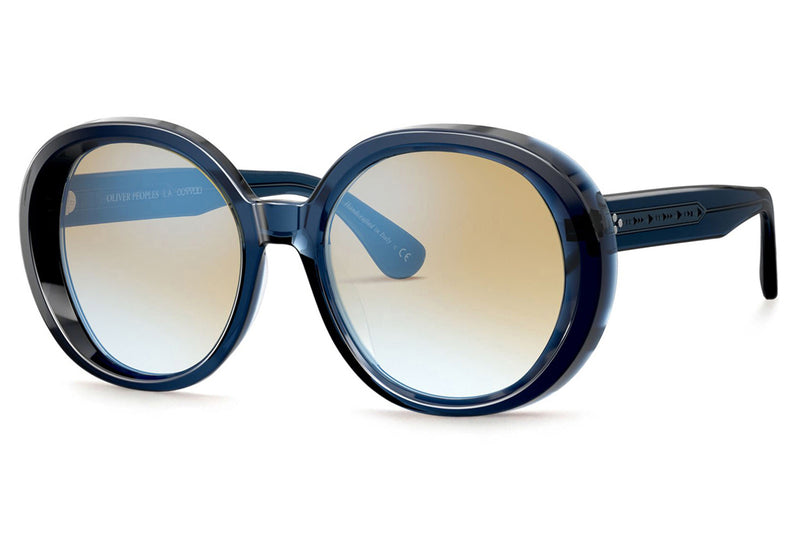 Oliver Peoples - Leidy (OV5426SU) Sunglasses Bright Navy with Yellow Gradient Mirror Lenses