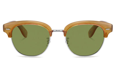 Oliver Peoples - Cary Grant 2 (OV5436S) Sunglasses Semi-Matte Amber Tortoise with Green C Lenses