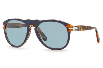 Persol - PO0649 Sunglasses Blue Prince Of Wales with Blue Polar Lenses (10903R)