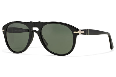Persol - PO0649 Sunglasses Black with Green Lenses (95/31)