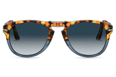 Persol - PO0714 Folding Sunglasses Brown Tortoise with Grey Gradient Blue Lenses (112032)