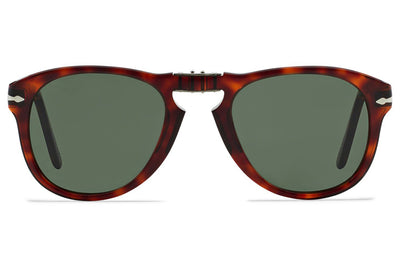 Persol - PO0714 Folding Sunglasses Havana with Green Lenses (24/31)