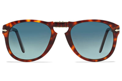 Persol - PO0714 Folding Sunglasses Havana with Blue Gradient Polar Lenses (24/S3)