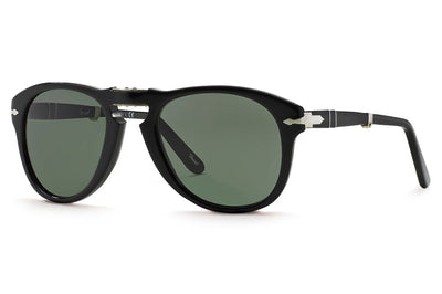 Persol - PO0714 Folding Sunglasses Black with Green Lenses (95/31)