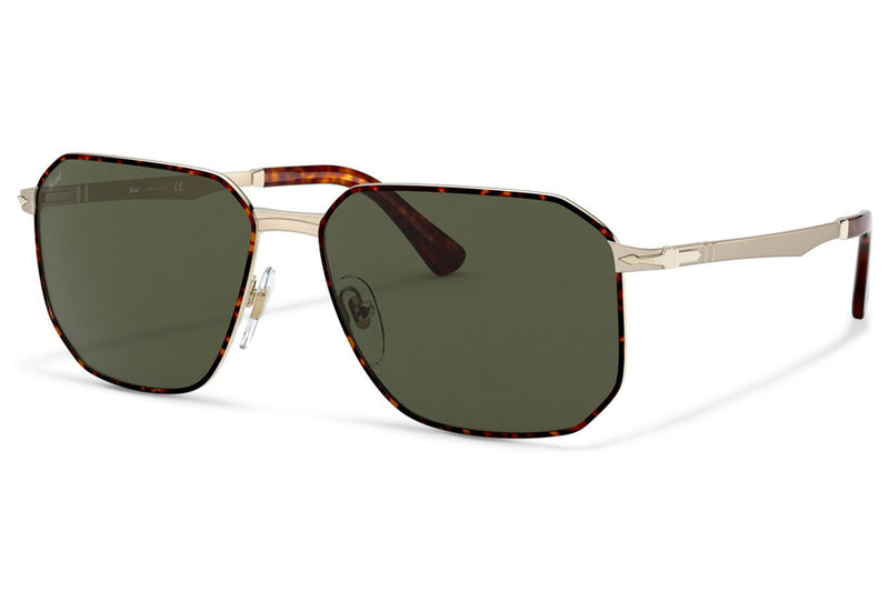 Persol - PO2461S Sunglasses Gold/Havana with Green Lenses (107531)