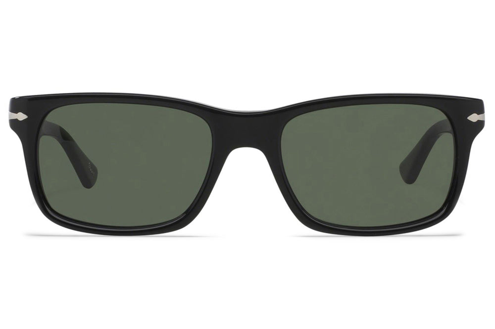 Persol - PO3048S Sunglasses Black with Green Lenses (95/31)