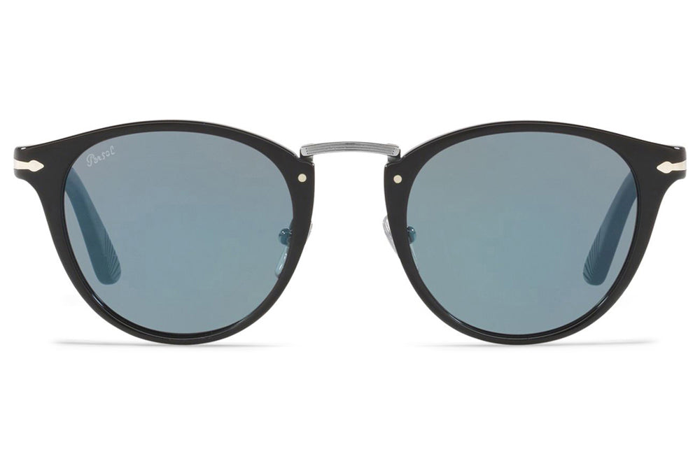 Persol - PO3108S Sunglasses Black with Light Blue Lenses (95/56)