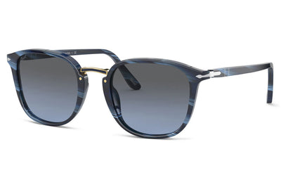 Persol - PO3186S Sunglasses Horn Blue with Gradient Grey Lenses (111196)
