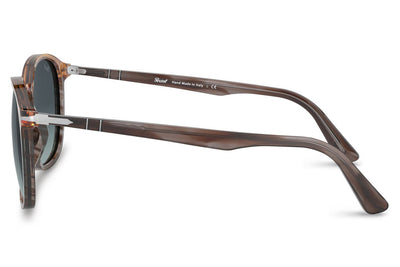 Persol - PO3215S Sunglasses Striped Grey/Gradient Brown (1137Q8)
