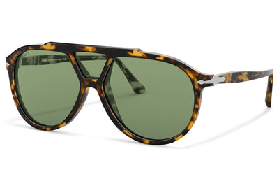 Persol - PO3217S Sunglasses Brown/Beige Tortoise with Green Polar Lenses (1056P1)