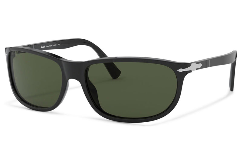 Persol - PO3222S Sunglasses Black with Green Lenses (95/31)