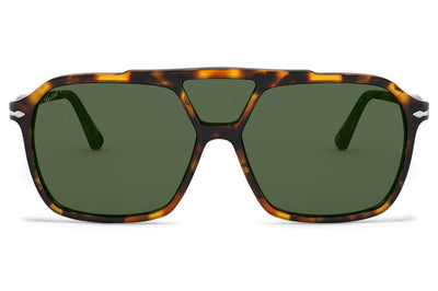 Persol - PO3223S Sunglasses Madreterra with Green Polar Lenses (1052P1)