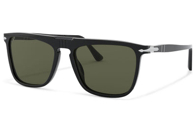 Persol - PO3225S Sunglasses Black with Green Polar Lenses (95/58)