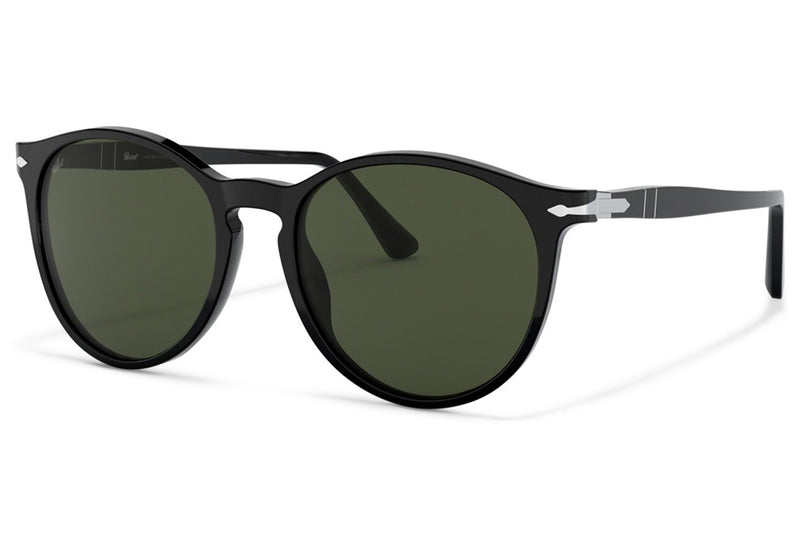 Persol - PO3228S Sunglasses Black with Green Lenses (95/31)