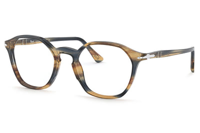 Persol - PO3238V Eyeglasses Stripped Brown Grey (1049)