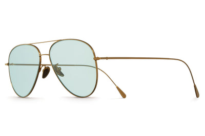 Cutler & Gross - 1266 Sunglasses Gold Plated with Pale Light Green Lenses