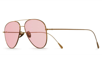 Cutler & Gross - 1266 Sunglasses Gold Plated with Pale Pink Lenses