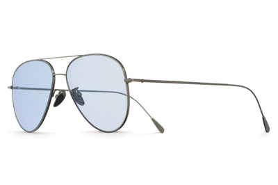 Cutler & Gross - 1266 Sunglasses Palladium Plated with Pale Blue Lenses