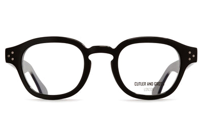 Cutler & Gross - 1290V2 Eyeglasses Black on Smoky Quartz