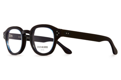 Cutler & Gross - 1290V2 Eyeglasses Black on Blue