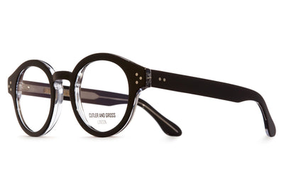 Cutler & Gross - 1291V2 Eyeglasses Black on Crystal