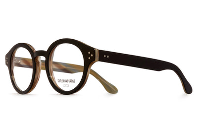 Cutler & Gross - 1291V2 Eyeglasses Black on Havana Horn