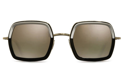 Cutler and Gross - 1301 Sunglasses White on Black
